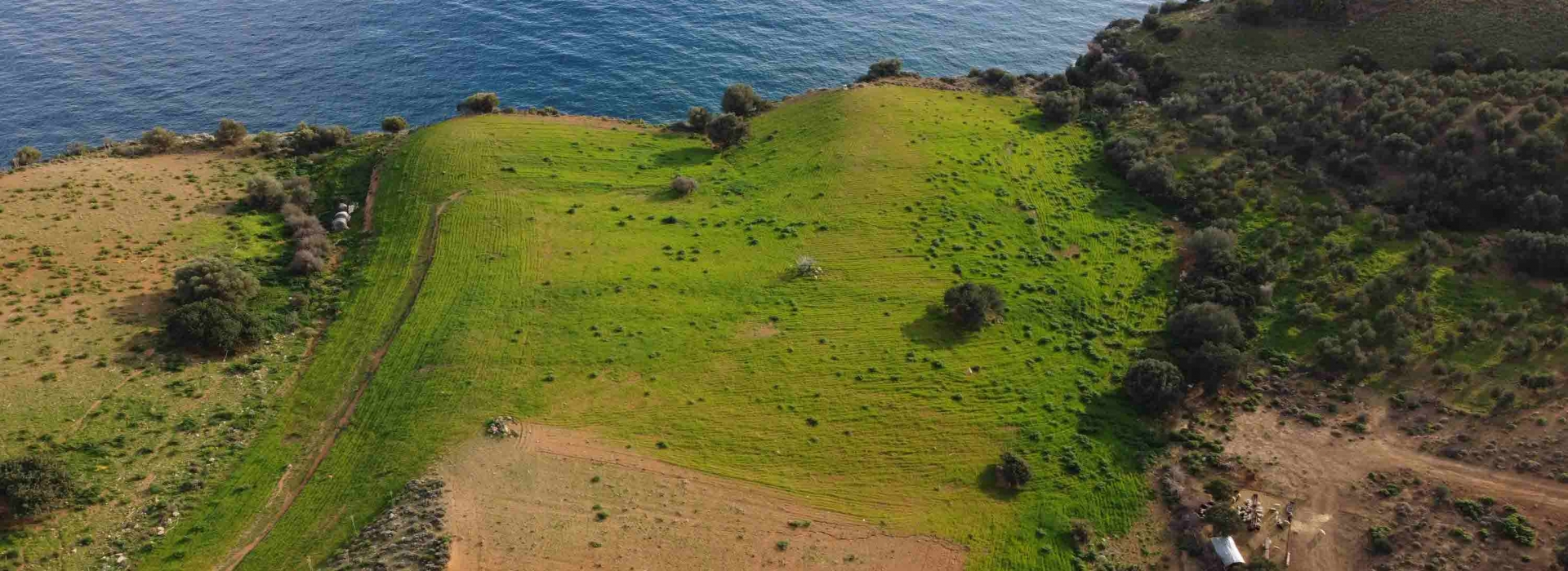 SEASIDE LAND PLOT OF 26 ACRES FOR SALE IN AGIA GALINI WITH BUILDING PERMISSION
